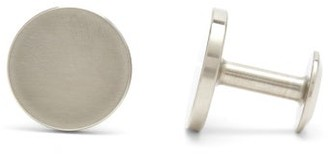 Alice Made This - Dot Brushed Stainless-steel Cufflinks - Mens - Silver