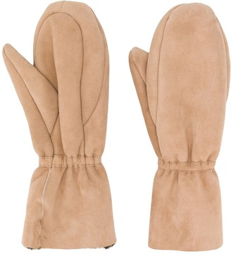 Yves Salomon Elasticated Mittens