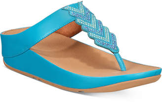 FitFlop Cora Crystal Thong Sandals Women Shoes