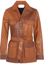 Chloé Belted Leather Jacket - Tan
