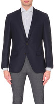 HUGO BOSS Single-breasted wool and cashmere-blend jacket