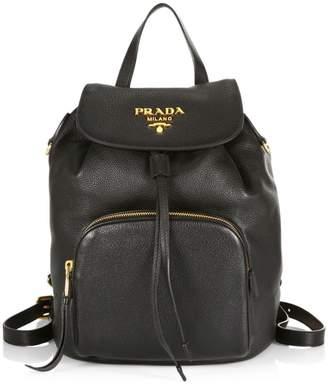 Prada Daino Leather Backpack