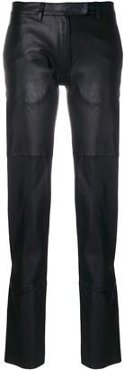 Olsthoorn Vanderwilt zip detail leather trousers