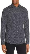 Michael Kors Dot Print Slim Fit Long Sleeve Button-Down Shirt