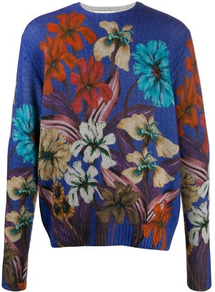 Etro Floral-Print Wool Jumper