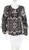 Parker Silk Printed Blouse w/ Tags