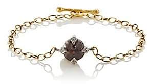 Cathy Waterman Women's Rustic Diamond Charm Bracelet
