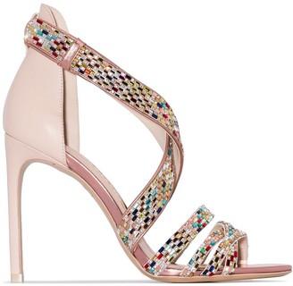 Sophia Webster Danae 100mm crystal-strap sandals