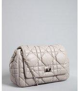 Christian Dior grey cannage lamb 'Dior Milly' chain strap shoulder bag