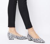 Office Matchmaker Block Court Heels Mono Leopard Snake