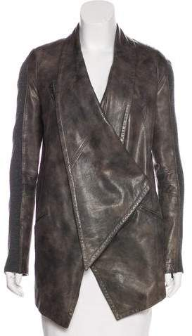 Yigal Azrouel Short Leather Coat