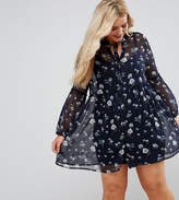 Influence Plus Lace Up Smock Dress