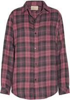 Current/Elliott The Prep School plaid cotton-blend shirt