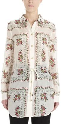 Tory Burch Floral Print Tunic Shirt