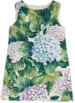 Dolce & Gabbana Hydrangea-Print Cotton-Blend Cloqué Shift Dress