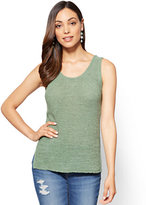 New York & Co. Lace-Up Back Knit Tank Sweater
