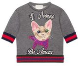 Gucci Little Girl's & Girl's Embroidered Cat Sweatshirt