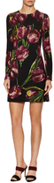 Dolce & Gabbana Wool Floral Print Flared Dress