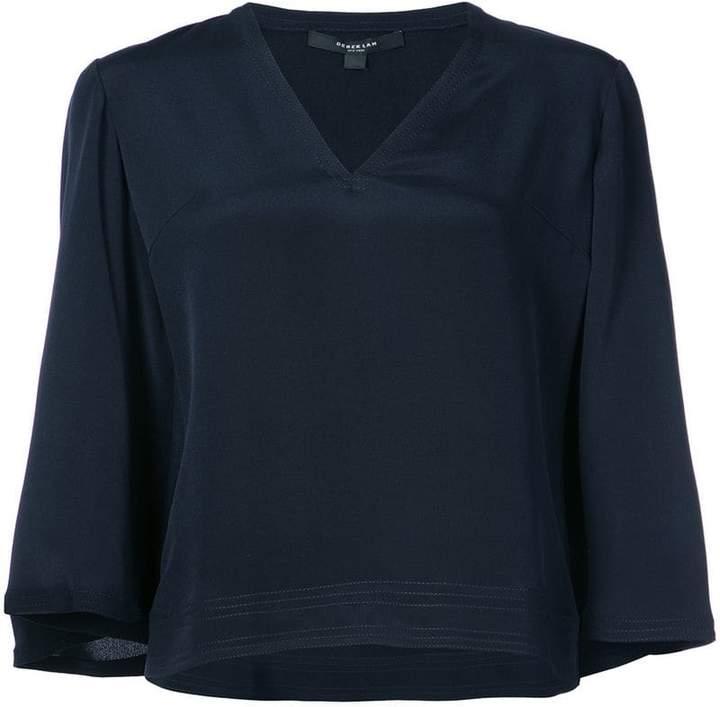 Derek Lam flared cropped blouse