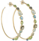 Ippolita 18K Peridot and Topaz Rock Candy Gelato Hoop Earrings