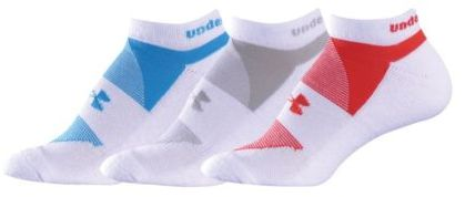 Under Armour Women's Charged Cotton No Show Sock 3-pack