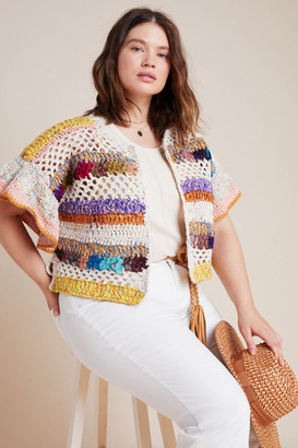 Anthropologie Mia Hand-Knit Cropped Cardigan