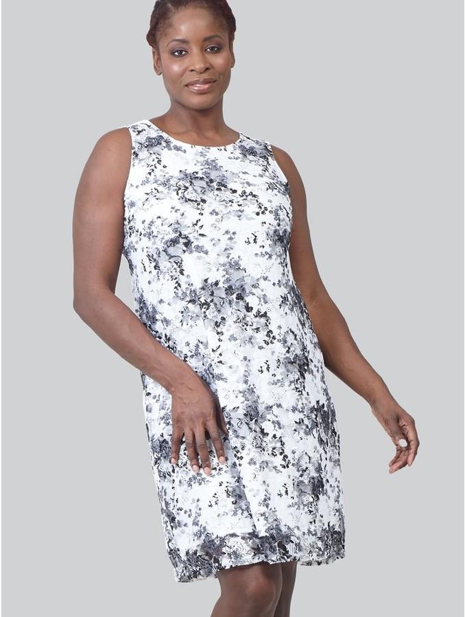 M&Co Izabel Curve floral print lace shift dress