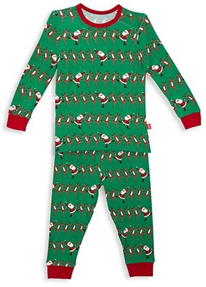 Magnetic Me Little Kid's 2-Piece Holly Folly Jolly Pajama Set