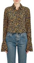 Derek Lam 10 Crosby Women's Floral Silk Bell Sleeve Button-Front Blouse