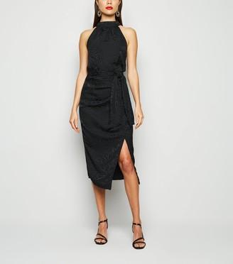 New Look Jacquard Satin Midi Skirt