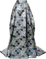 Carolina Herrera floral jacquard gown skirt - women - Silk/Polyester - 2