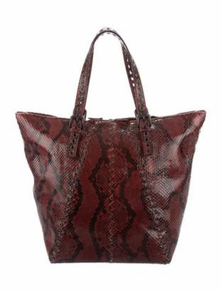 Bottega Veneta Shiny Python Grommet-Trimmed Shoulder Bag