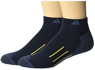 adidas Climalite(r) X II Low Cut Socks 2-Pack (Black/Black/Onix Marl/White/Onix) Men's Low Cut Socks Shoes