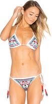 Rococo Sand Triangle Bikini Top in White. - size XS (also in )