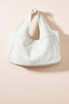 Claramonte Pablo Woven Leather Tote Bag By Claramonte in White