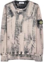 Stone Island Corrosion Distressed Cotton Sweatshirt