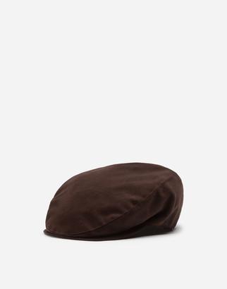 Dolce & Gabbana Stretch Cotton Flap Cap
