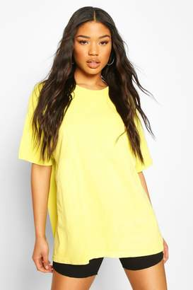 boohoo Neon Washed Oversized T-Shirt