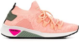 Diesel Sock-Style Lace-Up Sneakers