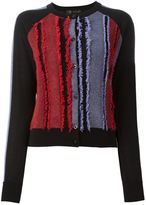 Versace frayed panel cardigan - women - Nylon/Polyamide/Viscose/Wool - 42