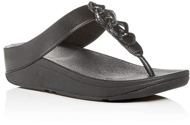 FitFlop Women's Fino Embellished Platform Thong Sandals