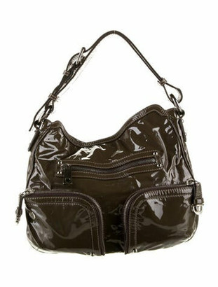 Marc Jacobs Patent Leather Hobo Brown