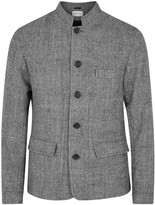 Oliver Spencer Coram Grey Checked Wool Jacket