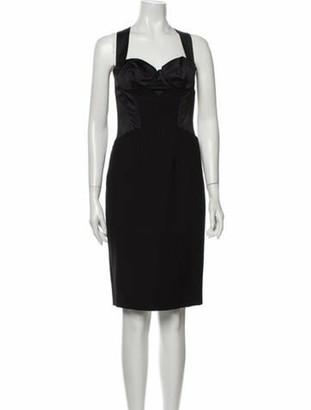 Dolce & Gabbana Virgin Wool Knee-Length Dress w/ Tags Wool