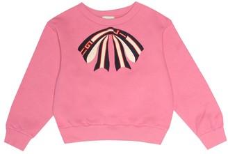 Gucci Kids AppliquAd cotton sweatshirt