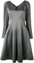 Emporio Armani flared party dress - women - Silk/Polyester/Acetate - 40