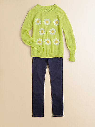 Wildfox Couture Kids Girl's Sparkly Daisy Sweater