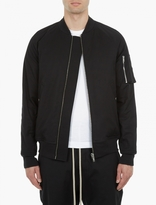 Rick Owens Black Quilted Flight Jacket