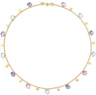 Marie Helene De Taillac Marie-Hélène de Taillac - Cloudy Night 22-karat Gold Multi-stone Necklace
