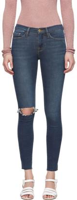 Frame Blue Le Skinny De Jeanne Raw Jeans